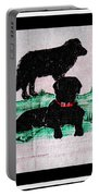 A Newfoundland Dog And A Labrador Retriever Portable Battery Charger