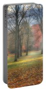 A November Morning Portable Battery Charger by Bill Wakeley