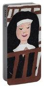 A Nun In Prayer Portable Battery Charger