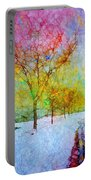 A Painted Winter Portable Battery Charger