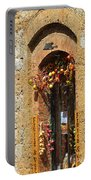 A Painting A Tuscan Shop Doorway Portable Battery Charger