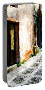 A Painting An Italian Street Portable Battery Charger