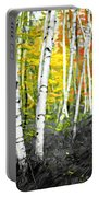 A Painting Autumn Birch Grove Portable Battery Charger