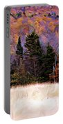 A Painting Autumn Field Portable Battery Charger