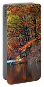 A Painting Barney's Autumn Pond Portable Battery Charger