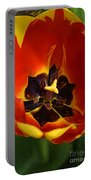 A Painting Red Tulip Portable Battery Charger