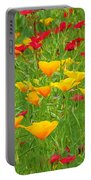 A Painting Tuscan Poppies Portable Battery Charger