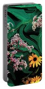 A Painting Wild Flowers Dali-style Portable Battery Charger