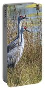 A Pair Of Sandhill Cranes Portable Battery Charger