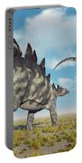 A Pair Of Stegosaurus Dinosaurs Portable Battery Charger