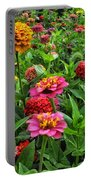 A Pair Of Yellow Zinnias 02 Portable Battery Charger