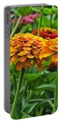 A Pair Of Yellow Zinnias 03 Portable Battery Charger