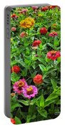 A Pair Of Yellow Zinnias 04 Portable Battery Charger
