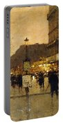 A Parisian Street Scene Portable Battery Charger by Eugene Galien-Laloue