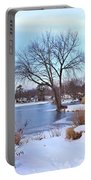 A Peaceful Winter Day Portable Battery Charger
