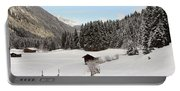 A Peaceful Winterscene Portable Battery Charger