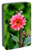 A Pink Flower Portable Battery Charger