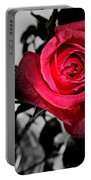A Pop Of Red - Rose  Portable Battery Charger