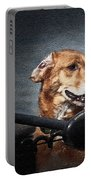 A Portrait Of A Golden Retriever Portable Battery Charger