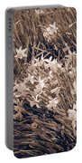 Clusters Of Daffodils In Sepia Portable Battery Charger