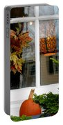 A Pretty Autumn Window Portable Battery Charger