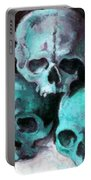 A Pyramid Of Skulls After Cezanne Portable Battery Charger