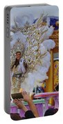 A Queen Of Carnival During Mardi Gras 2013 Portable Battery Charger