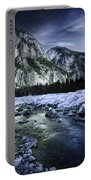A River Flowing Through The Snowy Portable Battery Charger