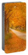 A Romantic Country Walk In The Fall Portable Battery Charger