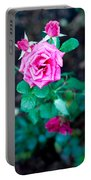 A Rose Blooms Portable Battery Charger