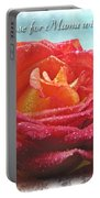 A Rose For Mama With Love Greeting Card Portable Battery Charger