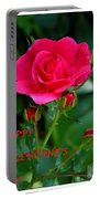 A Rose For Valentine's Day Portable Battery Charger