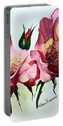 A Rose Is A Rose Portable Battery Charger by Karin  Dawn Kelshall- Best