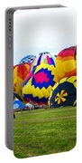 A Row Of Hot Air Balloons Left Side Portable Battery Charger