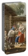 A Russian Peasant Family, 1823 Portable Battery Charger