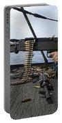A Sailor Fires An M-240b Machine Gun Portable Battery Charger