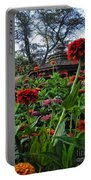A Sea Of Zinnias 02 Portable Battery Charger