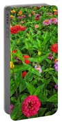 A Sea Of Zinnias 04 Portable Battery Charger