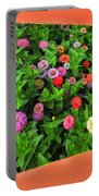 A Sea Of Zinnias 06 Portable Battery Charger