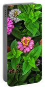 A Sea Of Zinnias 07 Portable Battery Charger
