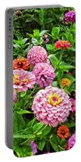 A Sea Of Zinnias 08 Portable Battery Charger