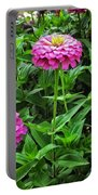 A Sea Of Zinnias 09 Portable Battery Charger