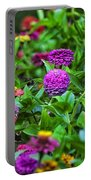 A Sea Of Zinnias 10 Portable Battery Charger