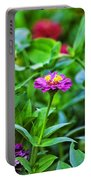 A Sea Of Zinnias 11 Portable Battery Charger
