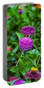 A Sea Of Zinnias 14 Portable Battery Charger