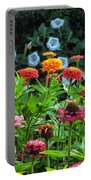 A Sea Of Zinnias 15 Portable Battery Charger