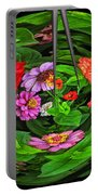A Sea Of Zinnias 16 Portable Battery Charger