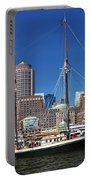 A Ship In Boston Harbor Portable Battery Charger