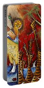 A Slice Of Paradise By Madart Portable Battery Charger by Megan Duncanson