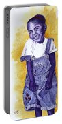 A Smile For You From Haiti Portable Battery Charger by Margaret Bobb